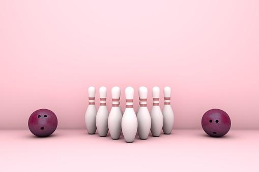 3D Bowling balls and pins