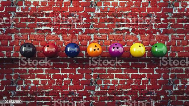 Bowling balls hanged on red brick wall with shelf picture id1091532592?b=1&k=6&m=1091532592&s=612x612&h=viaxqq5cmjakgayx8nzqcb3vxnqtszqujxvaevoqbbu=