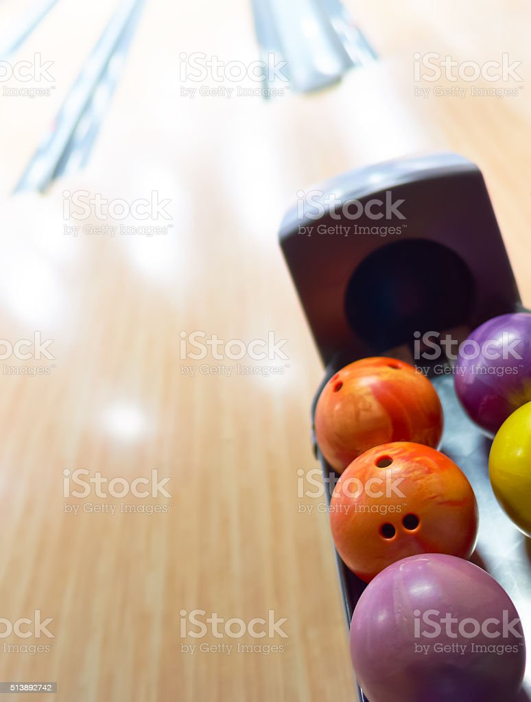 Bowling balls stock photo