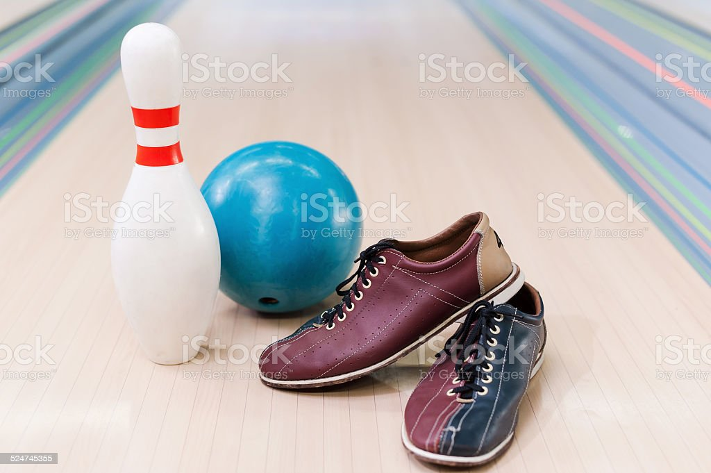 Bowling equipment . stock photo