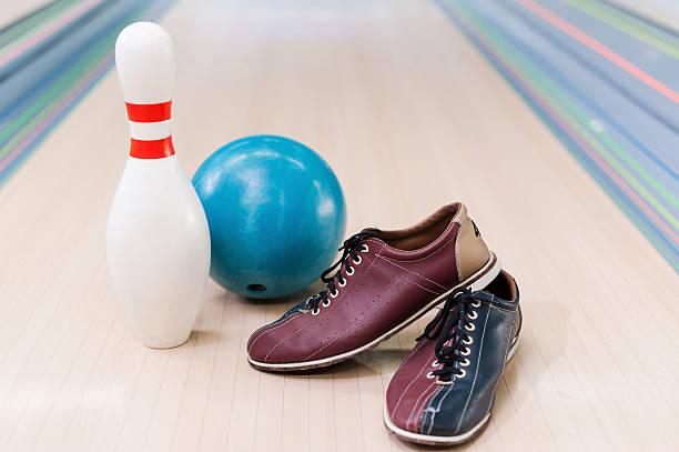 Bowling equipment . stock photo