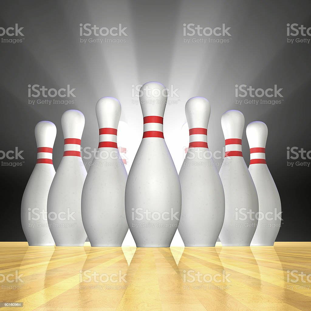 Bowling Excitement royalty-free stock photo
