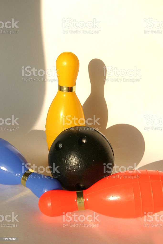 bowling game royalty-free stock photo