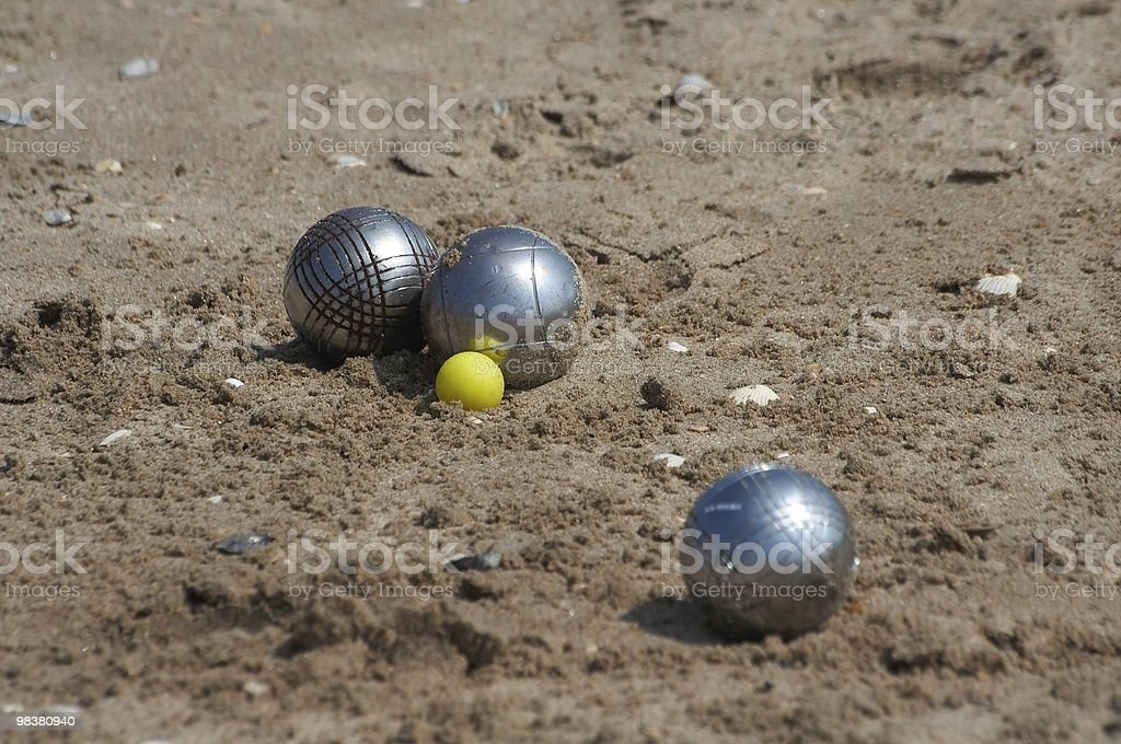 Jeux de boules royalty-free stock photo