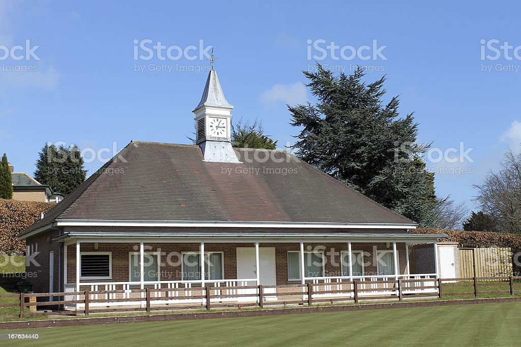 Bowling green pavilion royalty-free stock photo