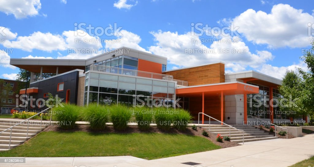Bowling Green State University dining hall stock photo