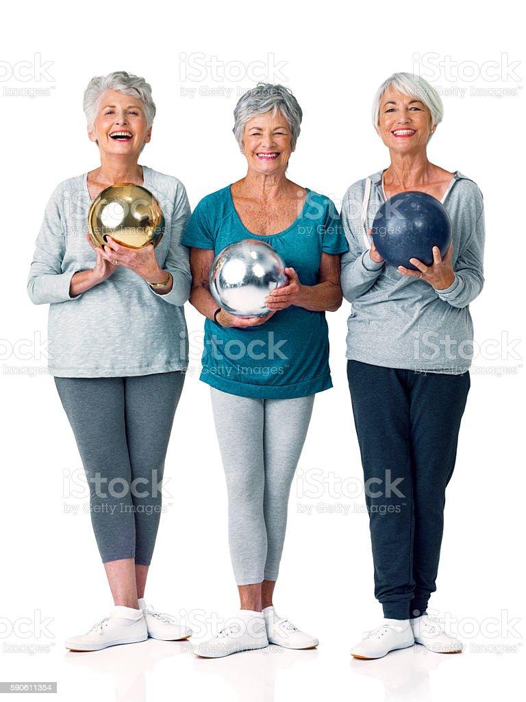 Bowling has so many great health benefits stock photo