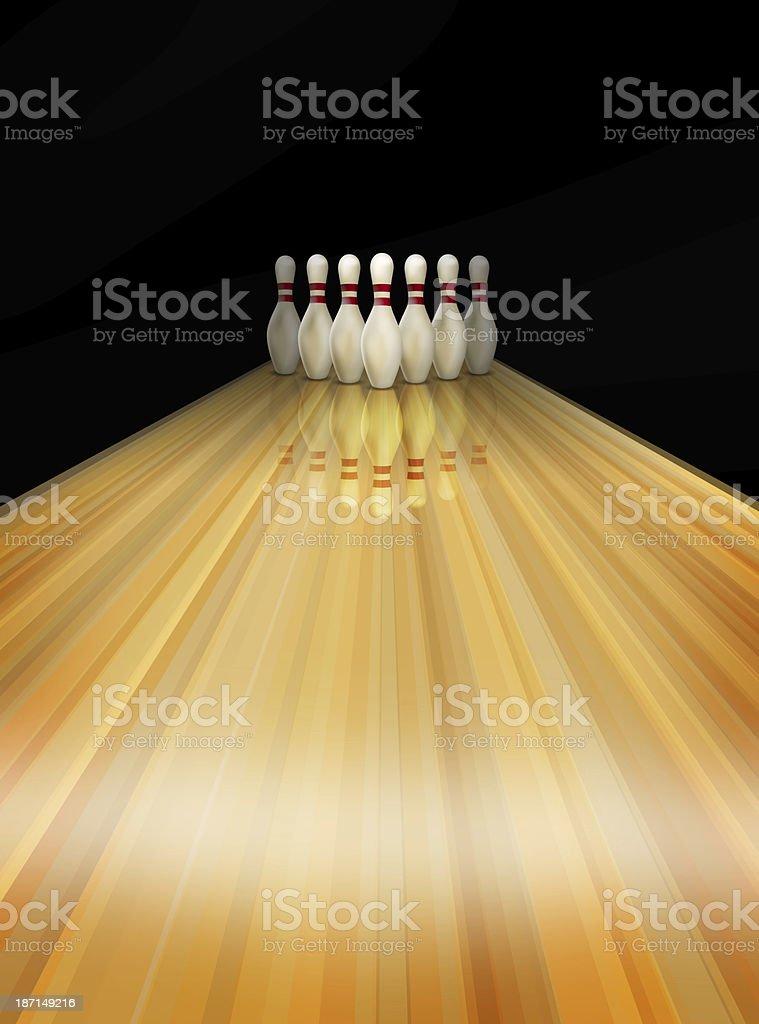 bowling lane skittles stock photo