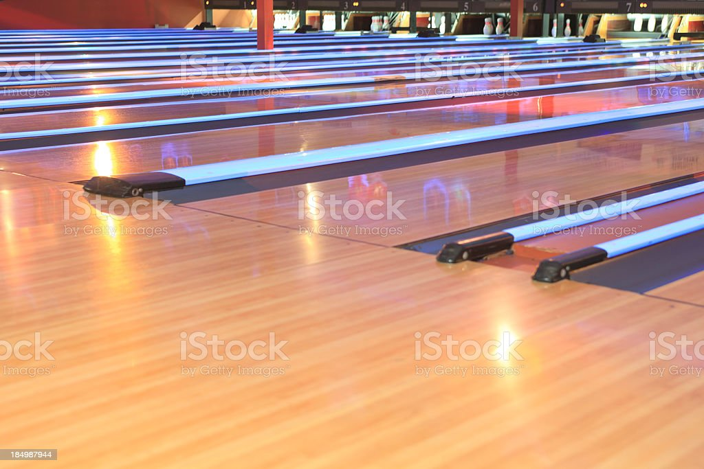 Bowling Night - Alley stock photo