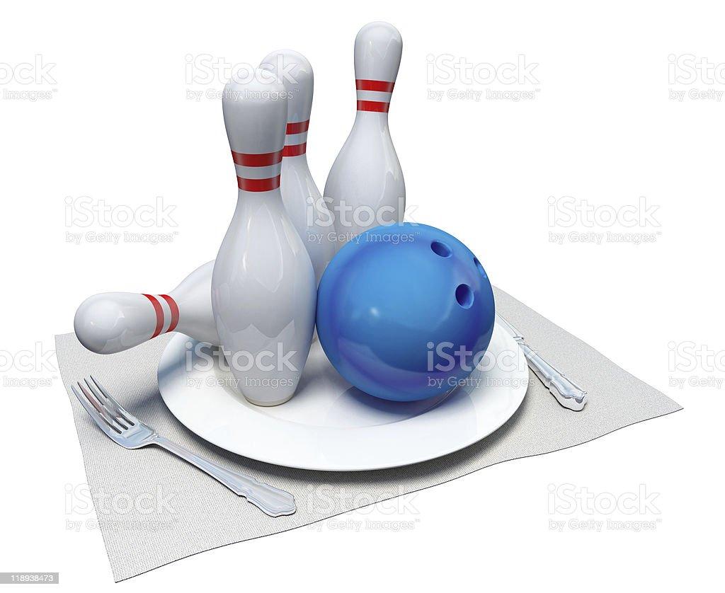 Bowling auf einer Platte – Foto