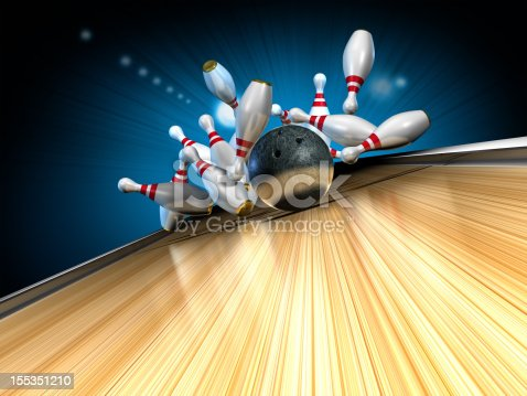 Bowling.  Lucky strike.