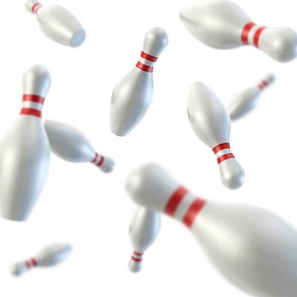 Bowling Pin Freefall stock photo