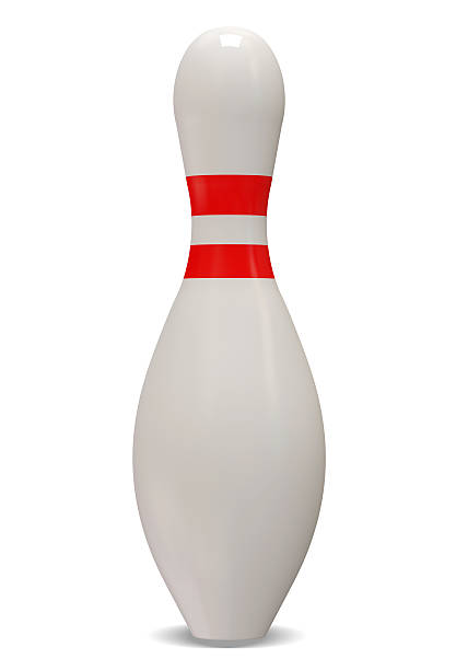 Bowling Pin isolated on white background stock photo