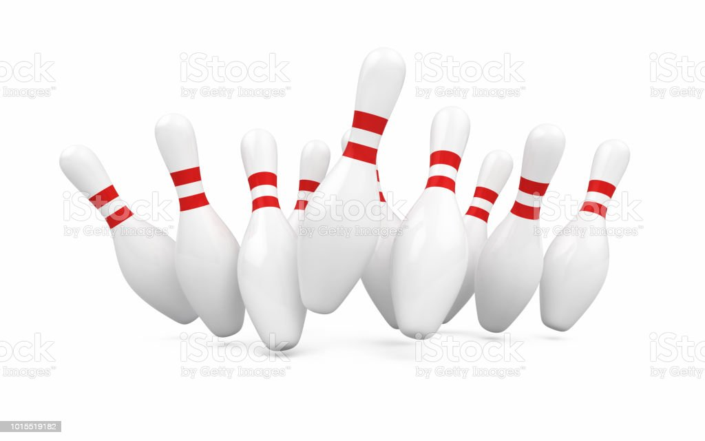 Bowling pin stock photo