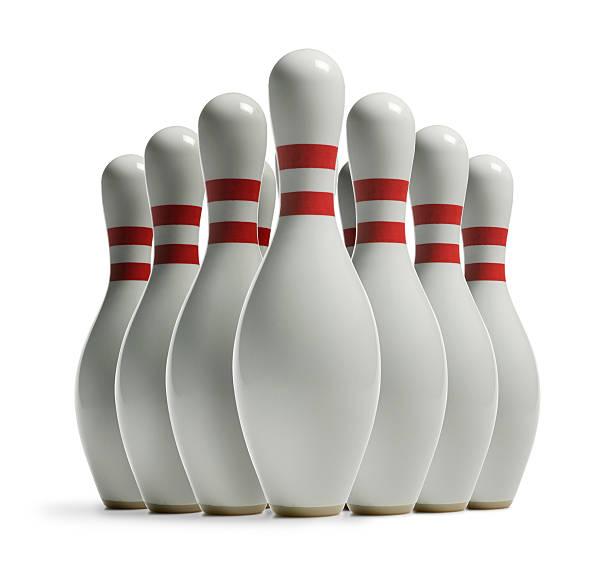 Bowling Pins stock photo