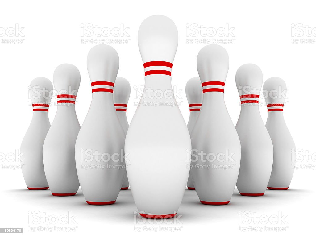 Bowling pins royalty-free stock photo
