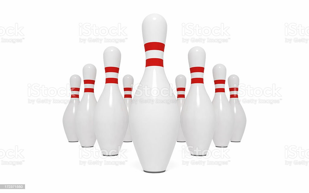 Bowling Pins XXL (Isolated) stock photo