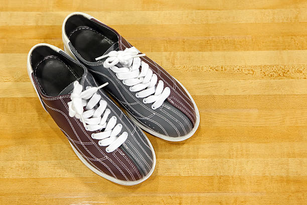 bowling shoes stock photo