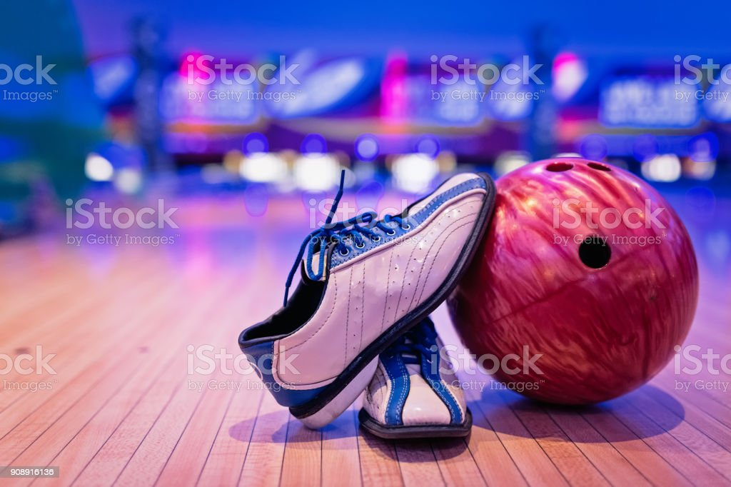 Bowling shoes. - foto stock