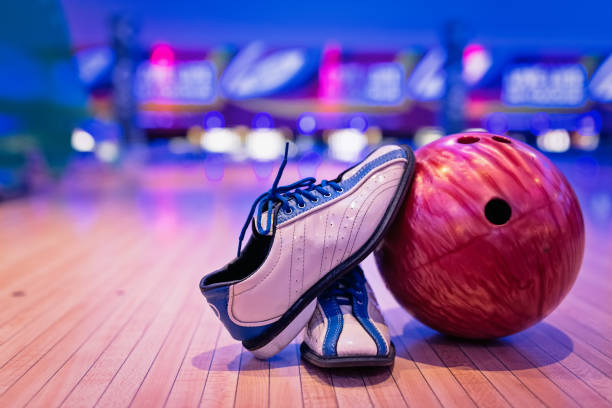 Bowling shoes. stock photo