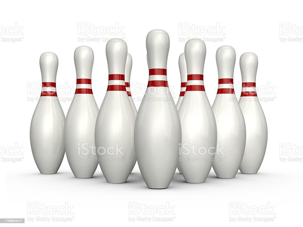 Bowling Skittles royalty-free stock photo