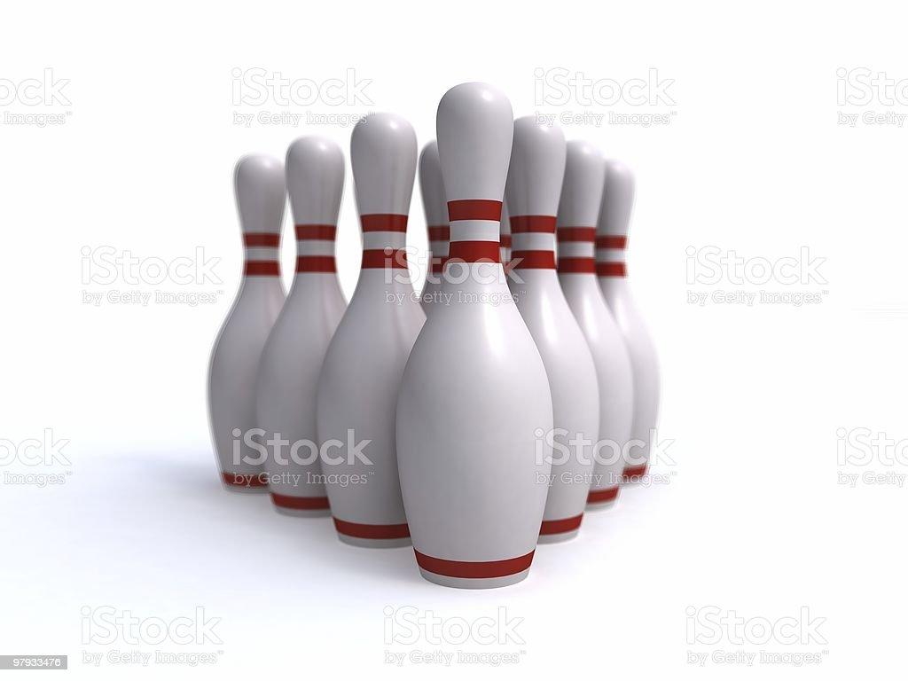 Bowling skittles royalty-free stock photo