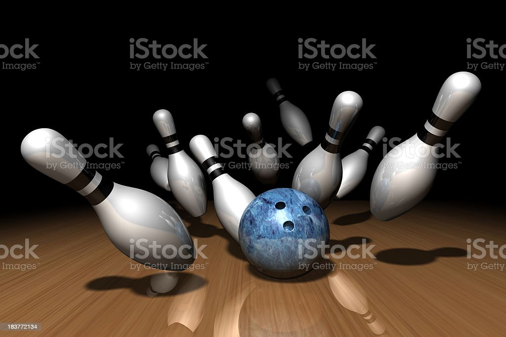 Bowling Strike royalty-free stock photo