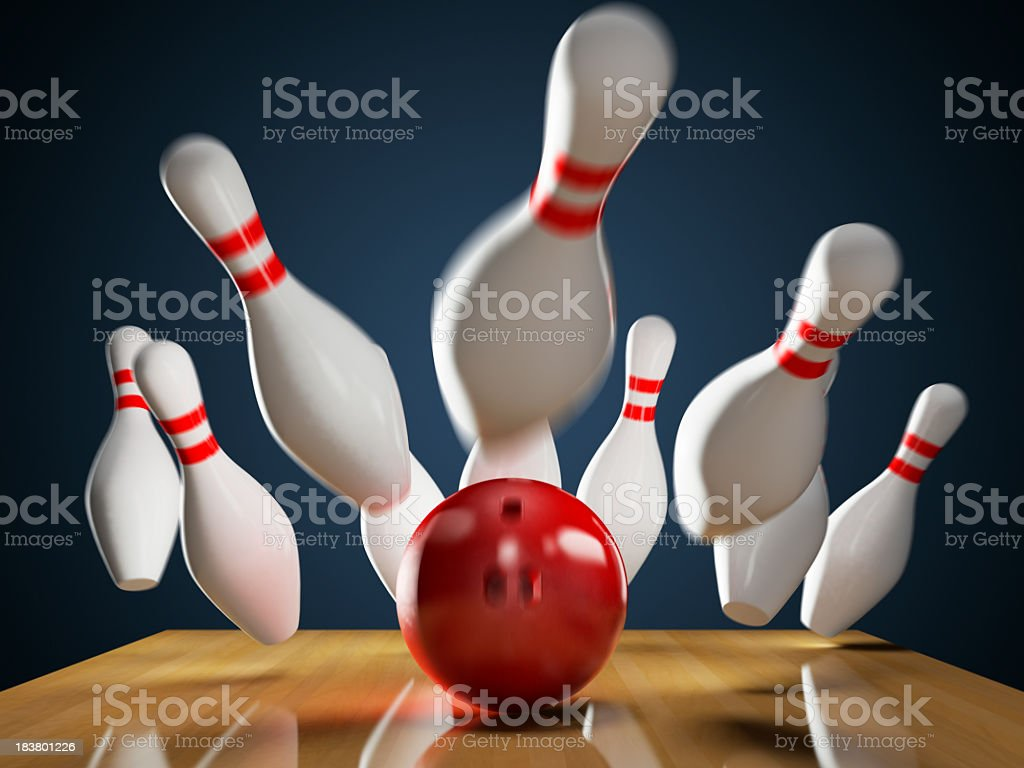 Bowling - Strike stock photo