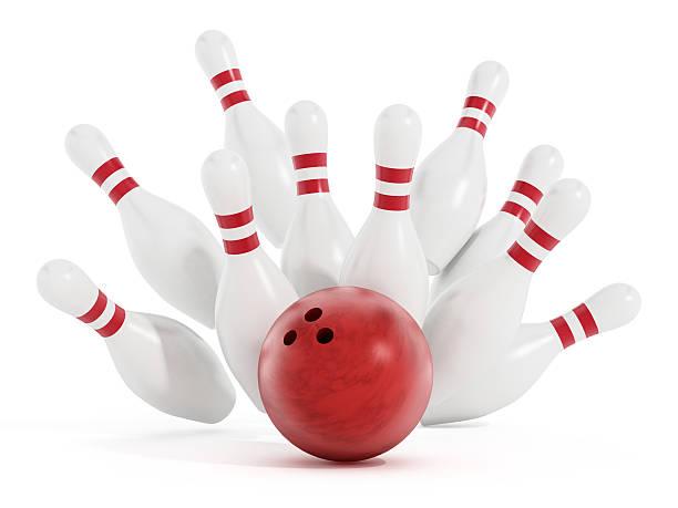 Bowling strike stock photo