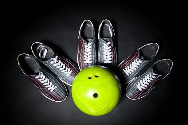bowling team game stock photo