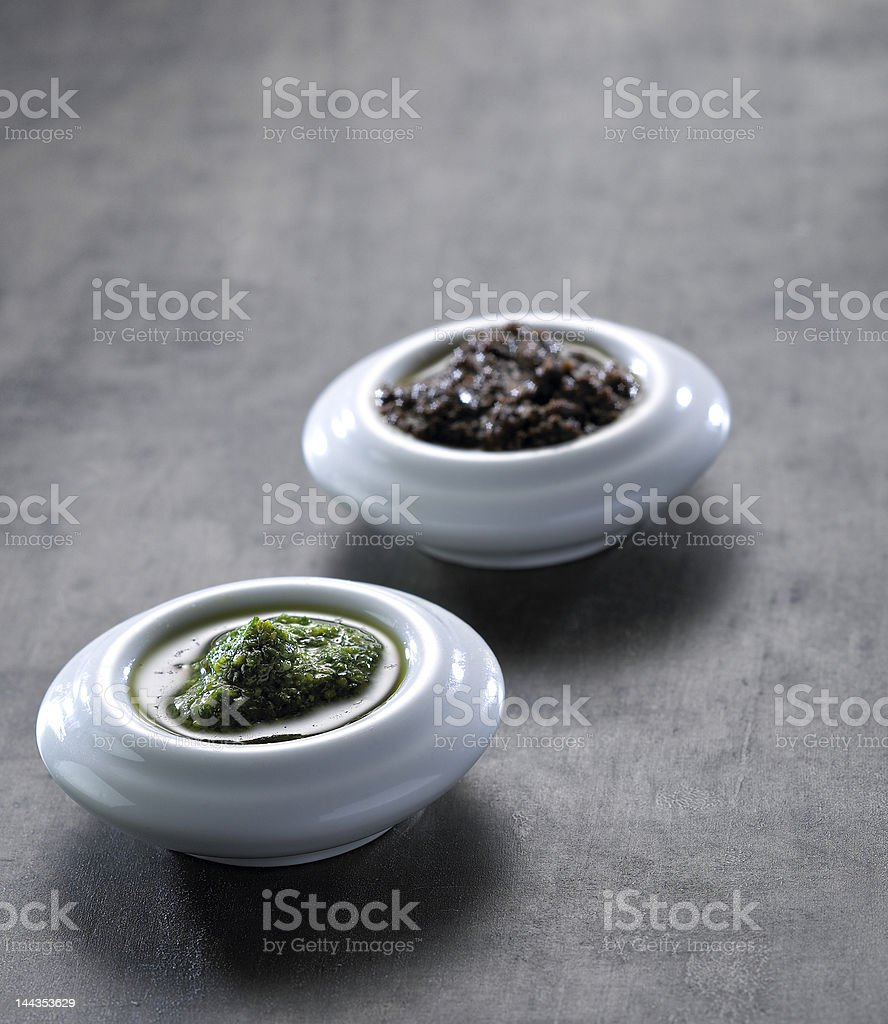 Bowls of pasto isolated on a table royalty-free stock photo
