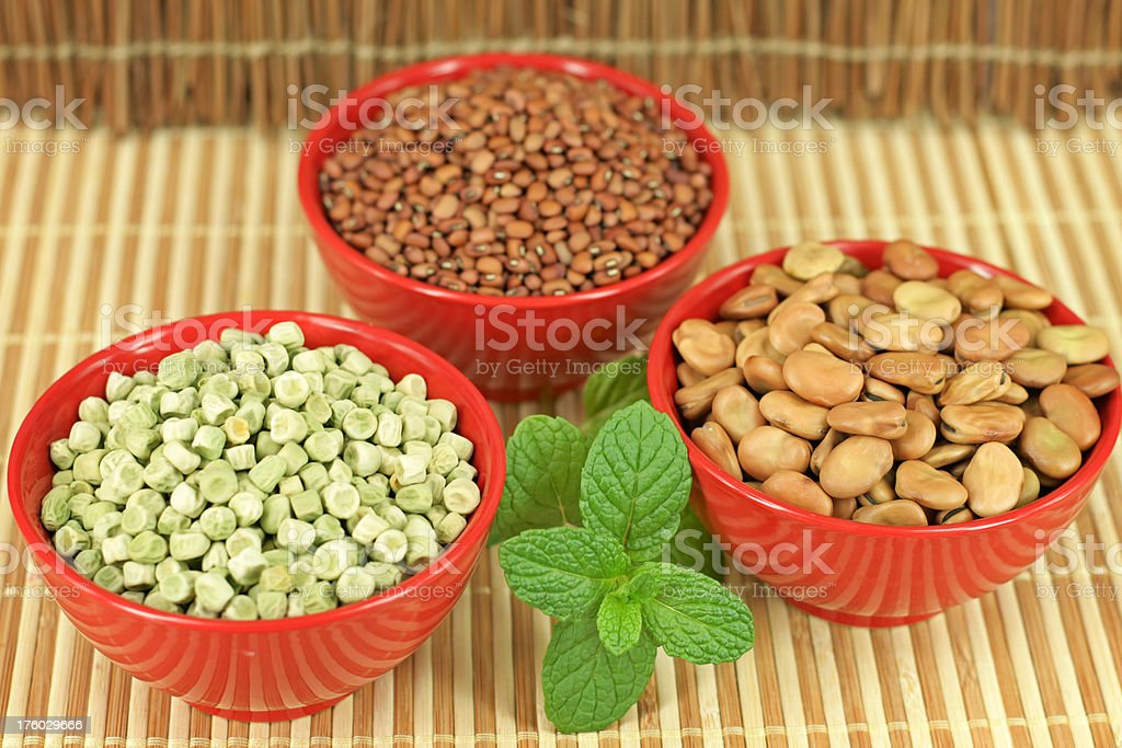 Bowls of Pulses royalty-free stock photo