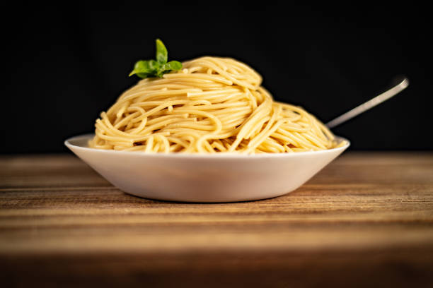 Bowls of Spaghetti stock photo