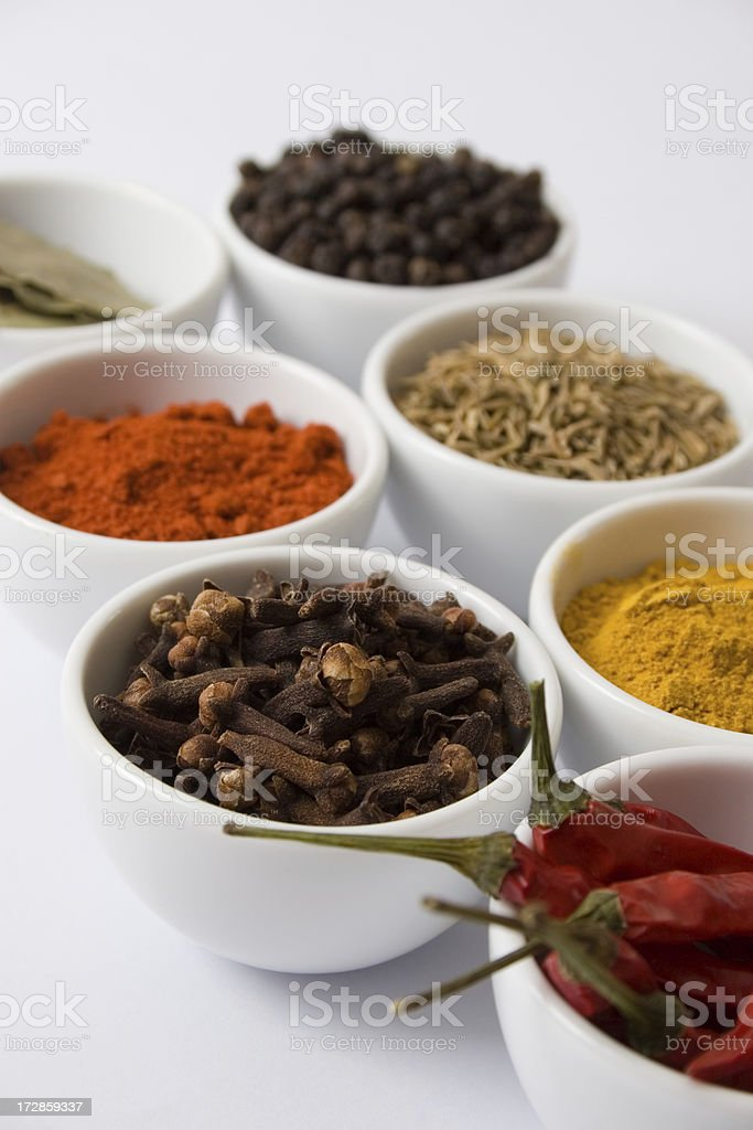 Bowls of spices 4 royalty-free stock photo