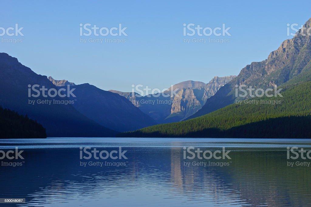 Bowman Lake Wilderness stock photo