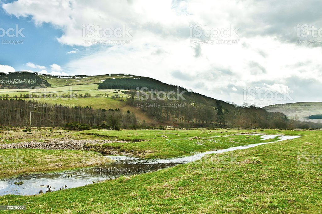 Bowmont valley stock photo