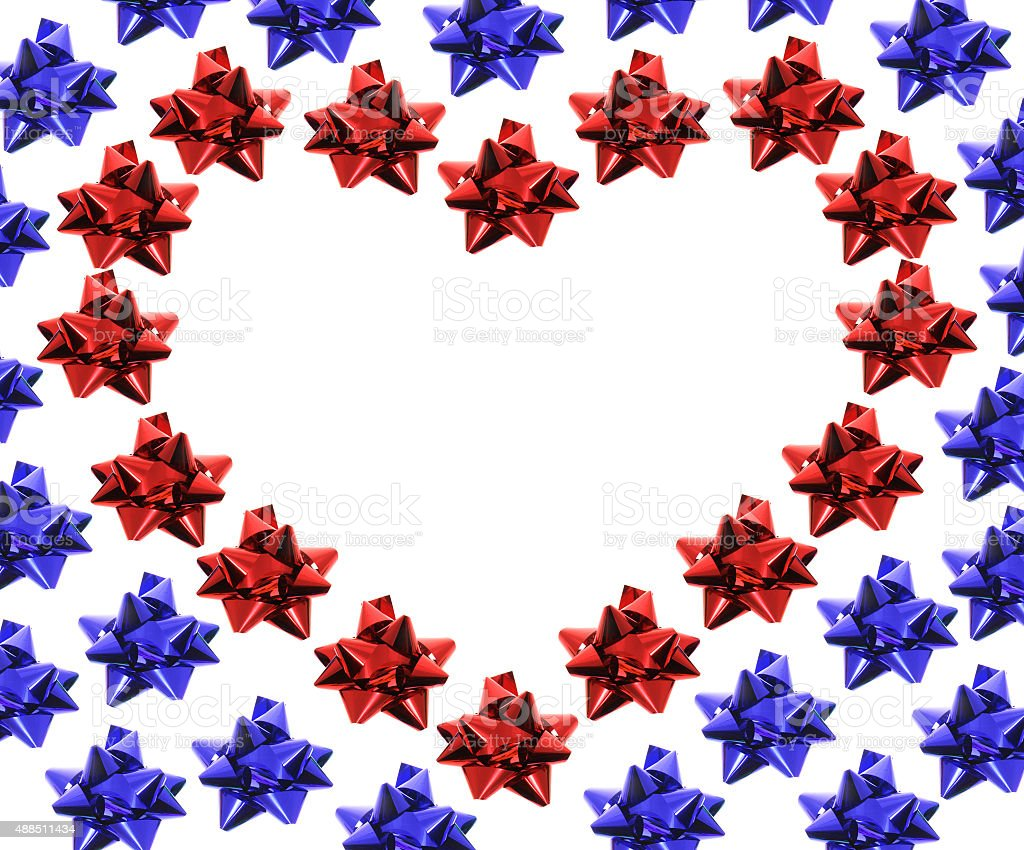 Bows in Heart Shape stock photo