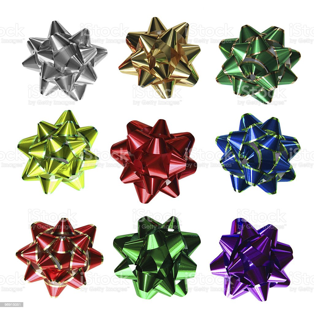 Bows Set royalty-free stock photo