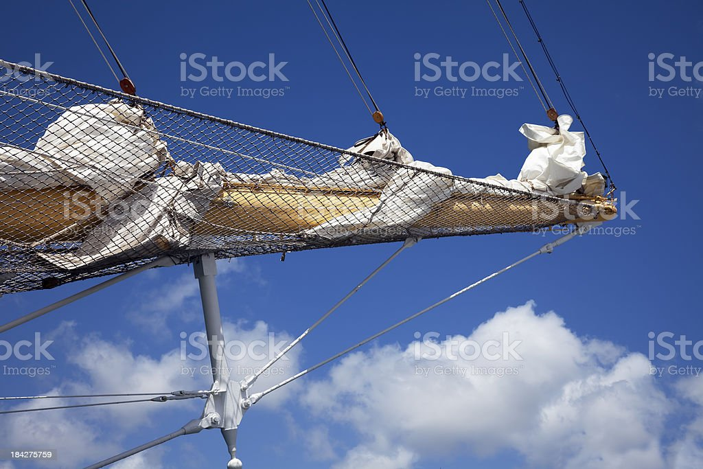 Bowsprit and headsail royalty-free stock photo