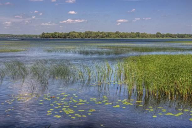 bogensehne see ist teil der leech lake native american reservierung im norden von minnesota - boundary waters stock-fotos und bilder