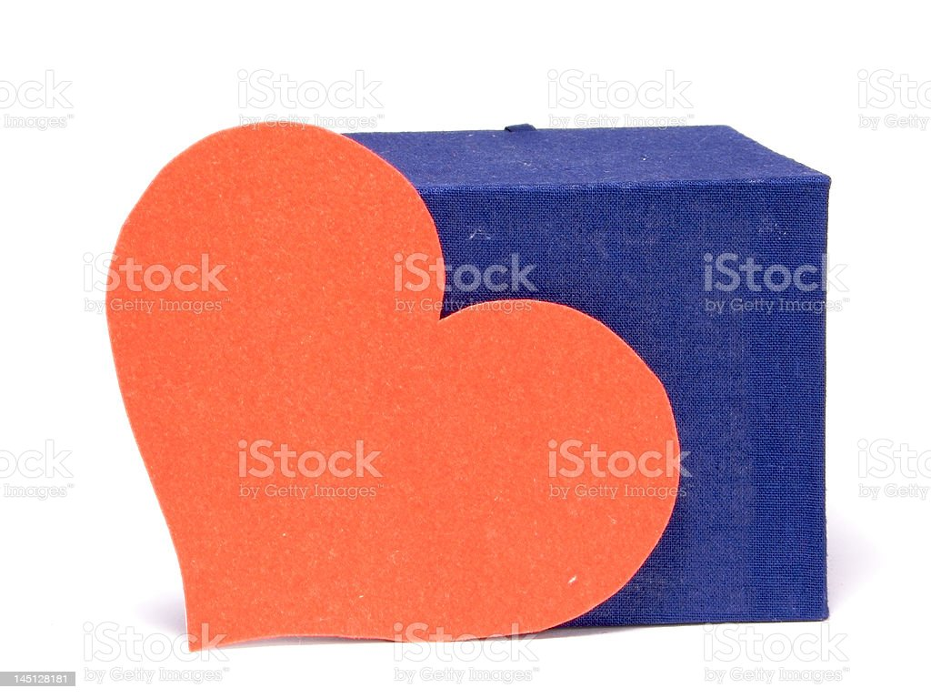 Box and heart  royalty-free stock photo