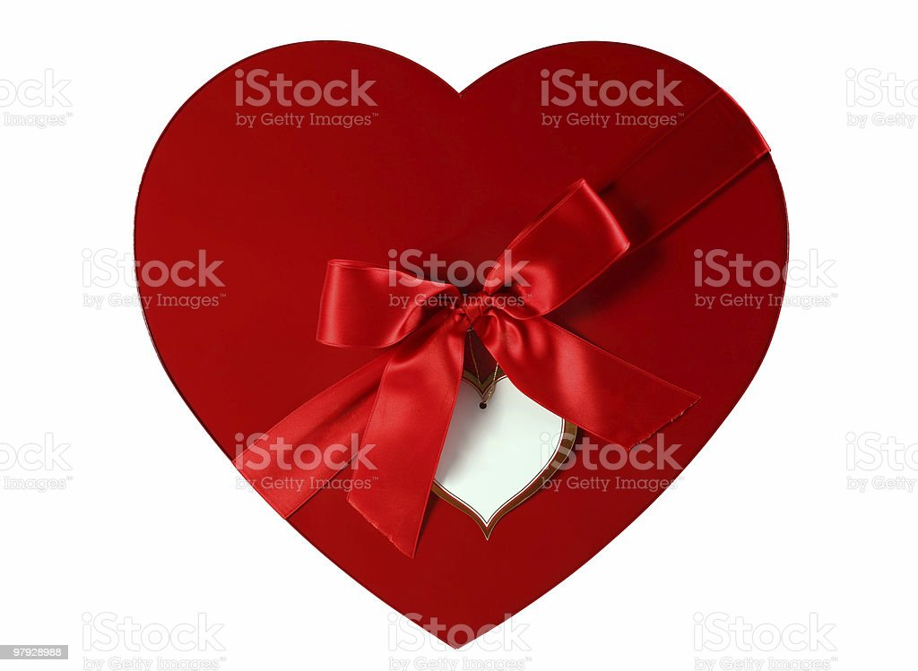 Box as heart royalty-free stock photo