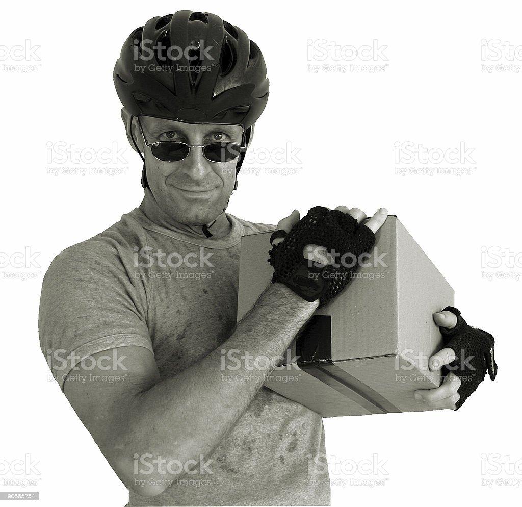 box carrying man stock photo