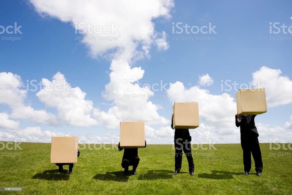 Box chart stock photo