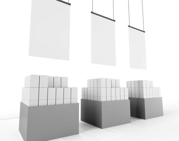box container display - espositore per negozio foto e immagini stock
