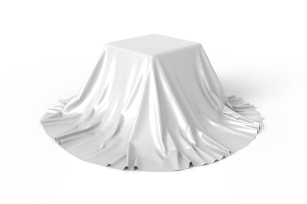 Box covered with white fabric - foto de stock