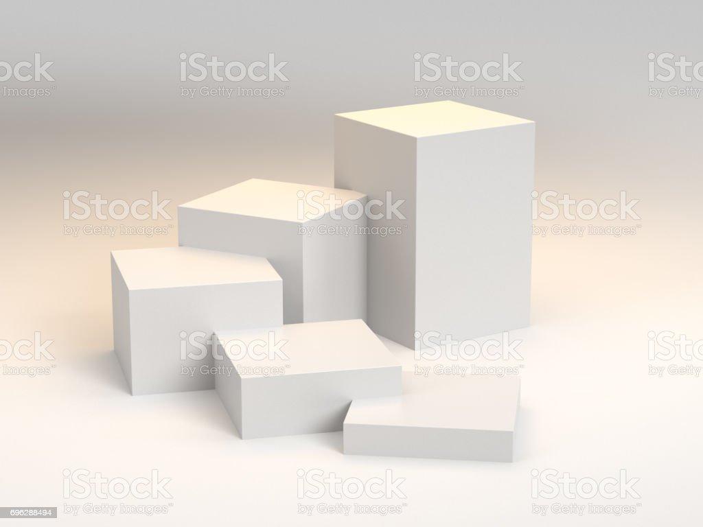 Box display stock photo