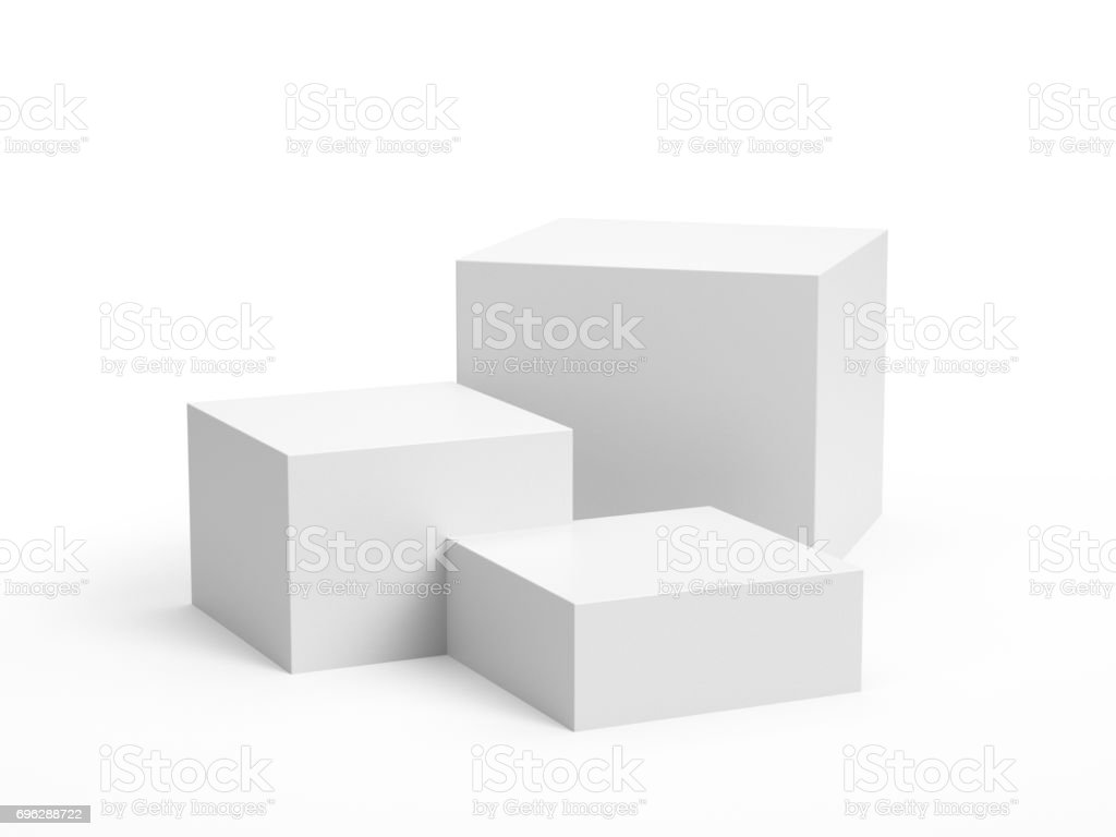 Box display stock photo