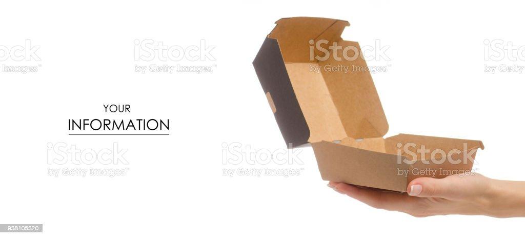 Boîte pour un burger en forme de main féminine - Photo