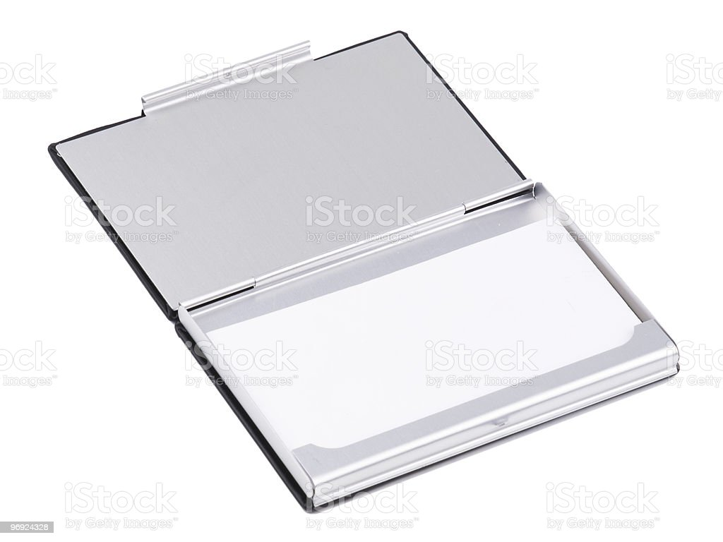 box for business cards on a white background royalty-free stock photo